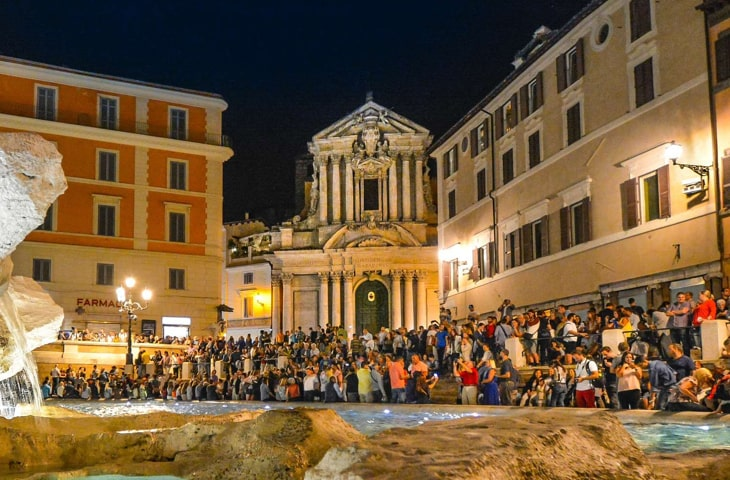 Rome Subway Map To Trevi Fountain Spanish Steps.Rome Pub Crawl Generation Pub Crawl